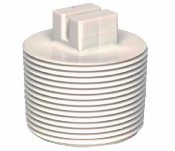 "1.5"" White ABS Threaded Plug"